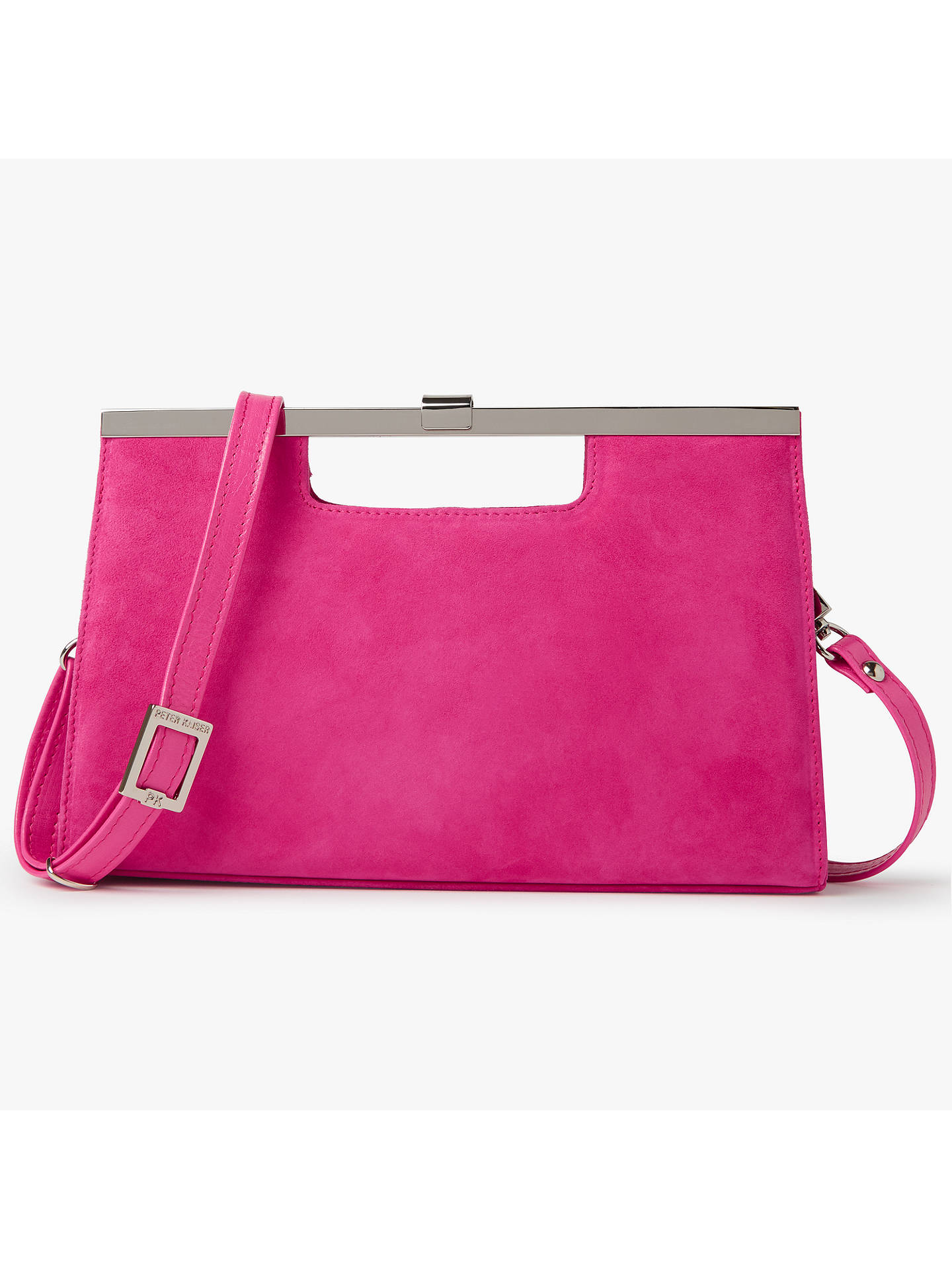 Peter Kaiser Wye Clutch Bag Berry Suede Online At Johnlewis