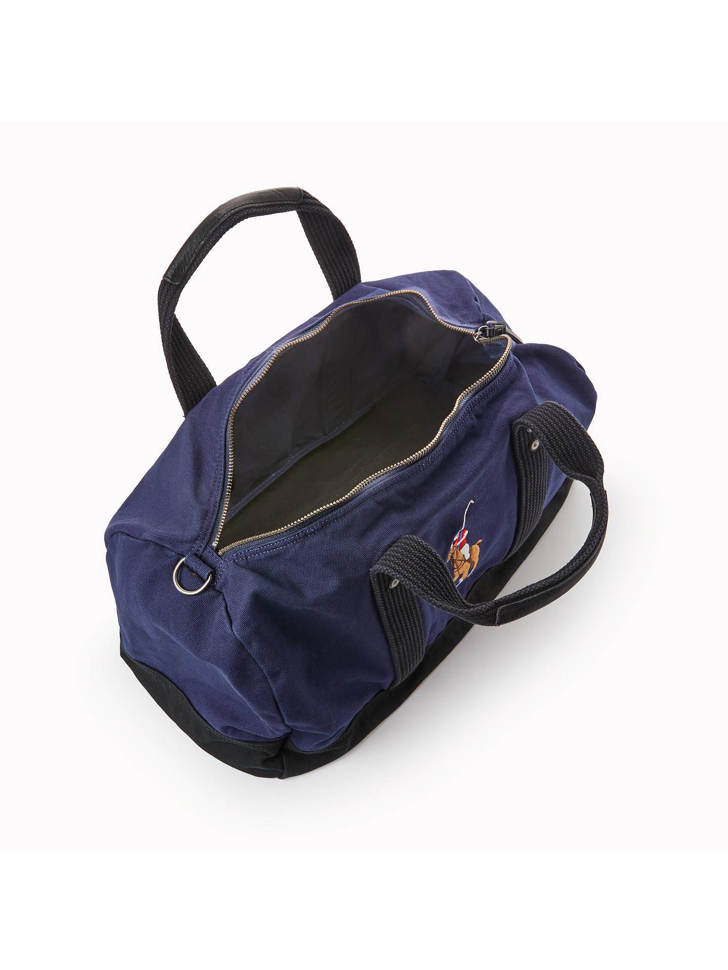 ... BuyPolo Ralph Lauren Canvas Big Pony Duffle Bag, Navy Online at  johnlewis.com ... 3985a1455a