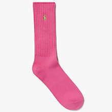 Buy Polo Ralph Lauren Crew Socks, One Size, Pale Daiquiri Online at johnlewis.com