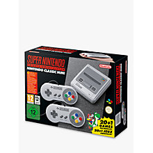 Buy Nintendo Classic Mini SNES: Super Nintendo Entertainment System Online at johnlewis.com