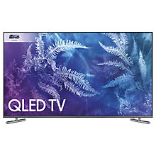 "Buy Samsung QE55Q6F QLED HDR 1000 4K Ultra HD Smart TV, 55"" with TVPlus/Freesat HD & 360 Design, Ultra HD Certified, Black Online at johnlewis.com"