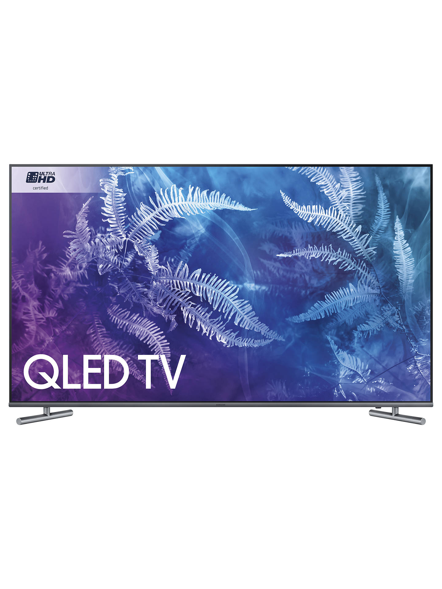 "BuySamsung QE55Q6F QLED HDR 1000 4K Ultra HD Smart TV, 55"" with TVPlus/Freesat HD & 360 Design, Ultra HD Certified, Silver Online at johnlewis.com"