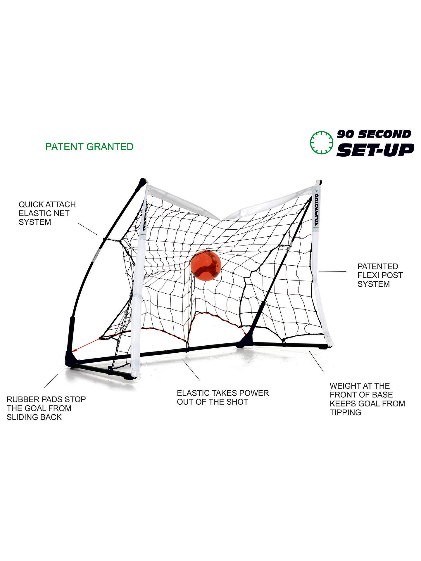 Buy Quickplay Kickster Elite 3 x 2m Football Goal Online at johnlewis.com