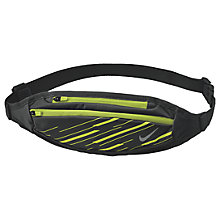 Buy Nike Capacity Waistpack, Black/Volt/Silver Online at johnlewis.com