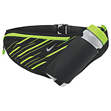 Buy Nike Large Bottle Running Belt, Black/Volt/Silver Online at johnlewis.com