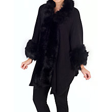 Buy Chesca Faux Fur Trimmed Wrap Online at johnlewis.com