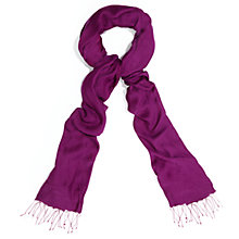 Buy Phase Eight Diamond Weave With Silk Pashmina, Magenta Online at johnlewis.com