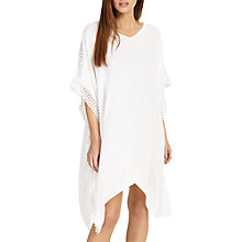 Buy Phase Eight Besse Holiday Crochet Trim Kaftan Dress, White Online at johnlewis.com