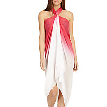 Buy Phase Eight Lulu Ombre Sarong, Pink/White Online at johnlewis.com