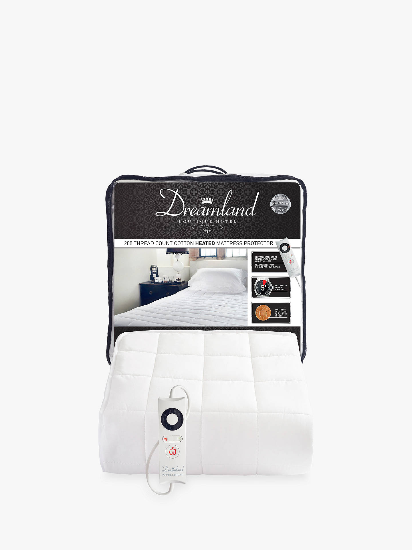 BuyDreamland Cotton Heated Mattress Protector, Single Online At  Johnlewis.com ...