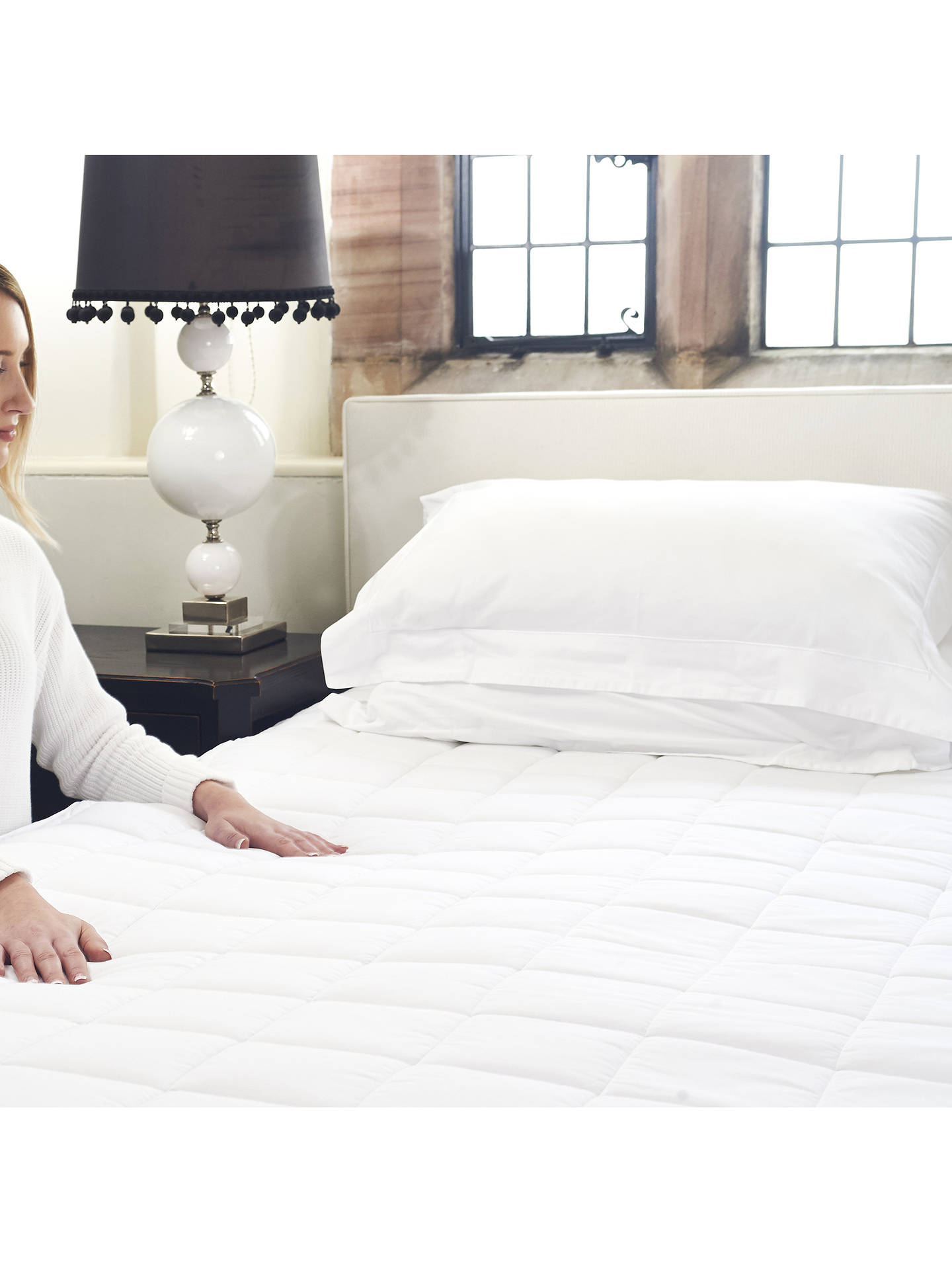 Buy Dreamland Cotton Heated Mattress Protector, Single Online at johnlewis.com
