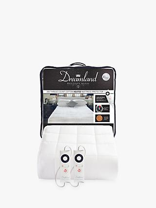 Dreamland Dual Control Cotton Heated Mattress Protector