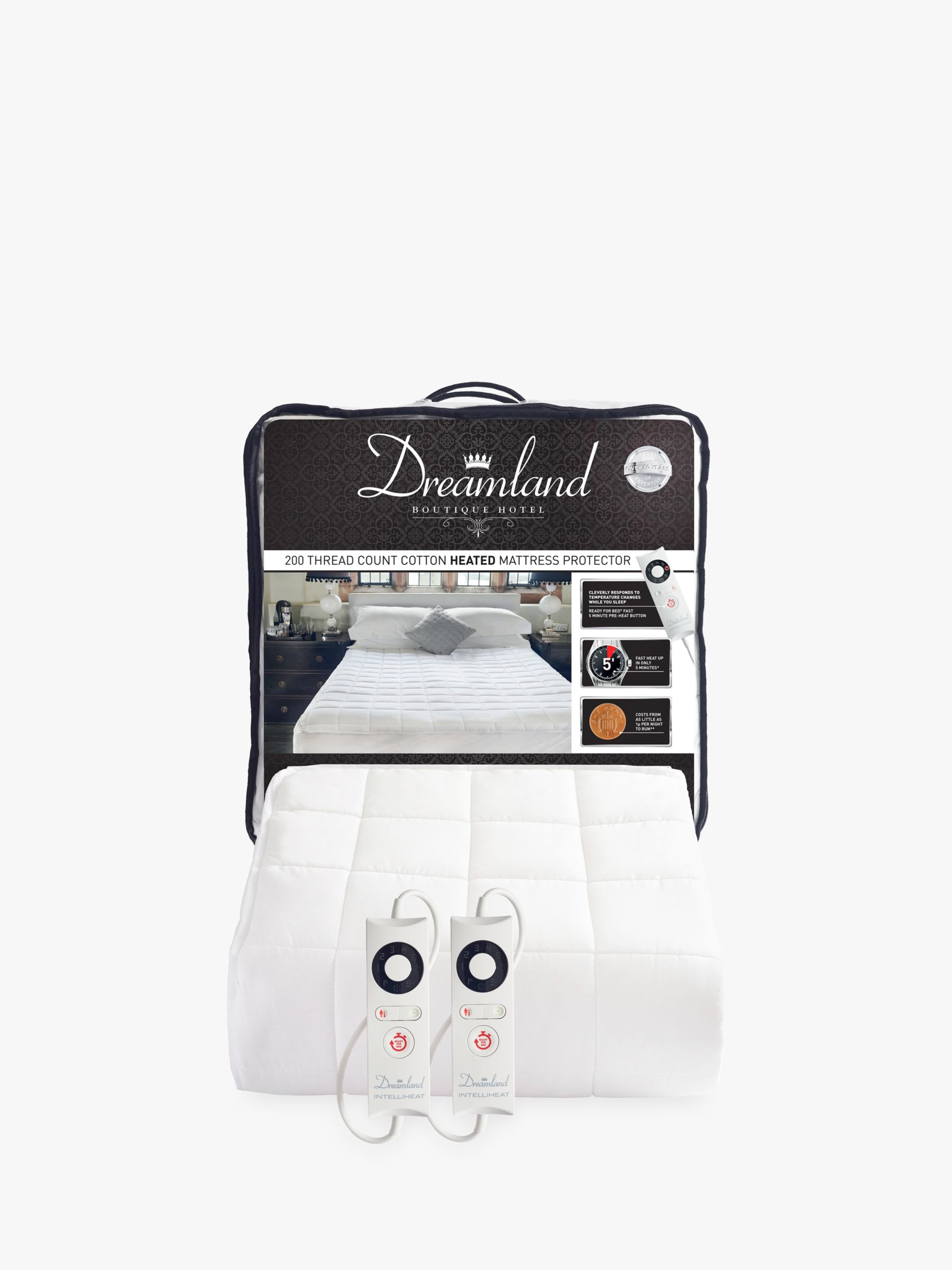 Dreamland Dreamland Dual Control Cotton Heated Mattress Protector