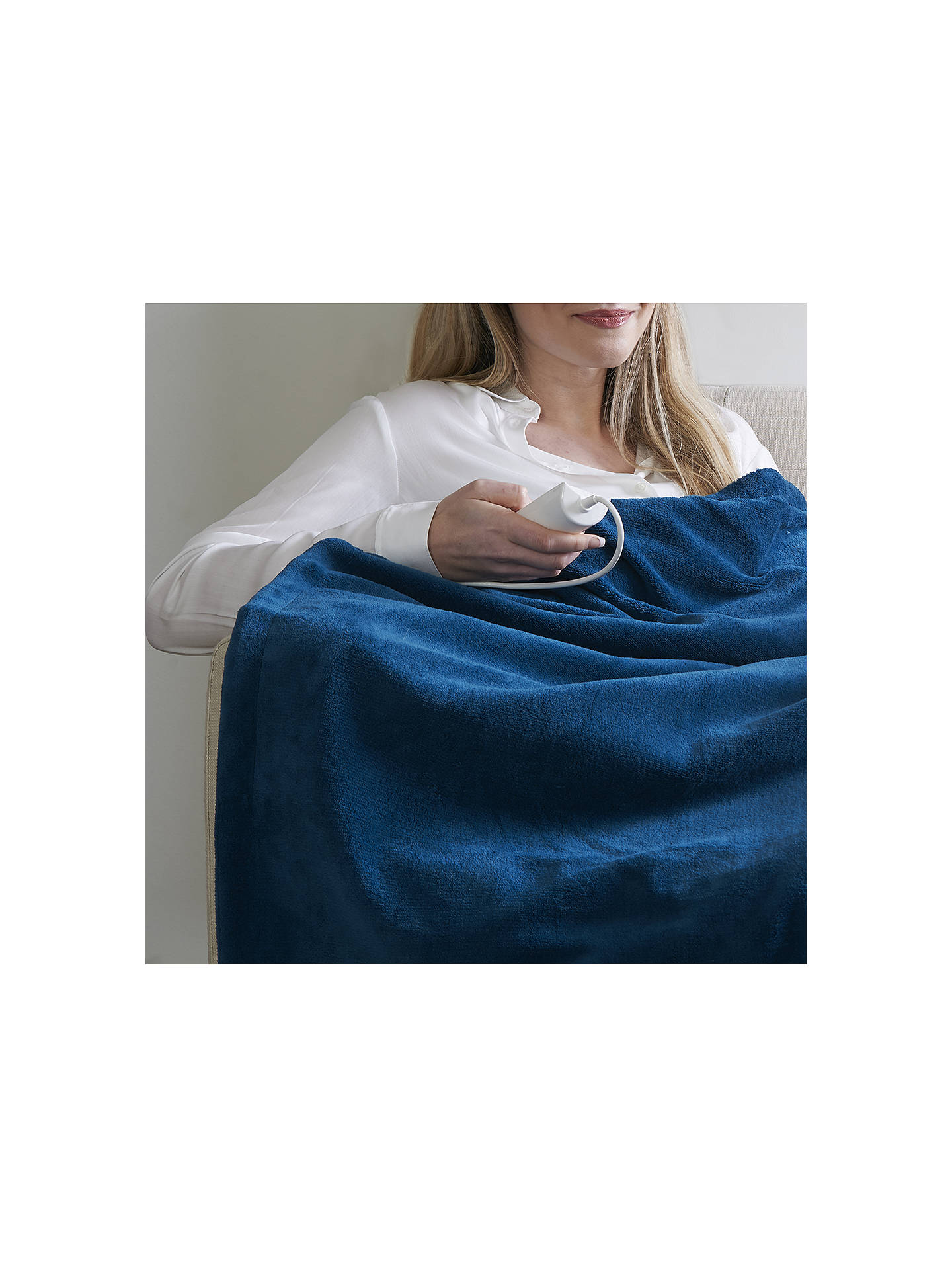 Buy Dreamland Relaxwell Luxury Heated Throw, Teal Online at johnlewis.com