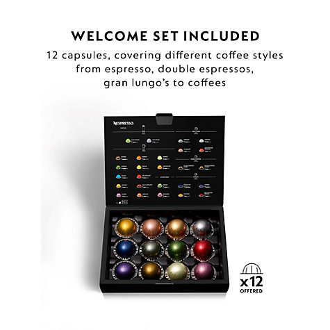 buy nespresso vertuo plus coffee machine by magimix john lewis. Black Bedroom Furniture Sets. Home Design Ideas