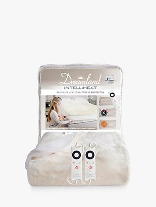 Dreamland Dual Control Intelliheat Faux Fur Heated Mattress Protector