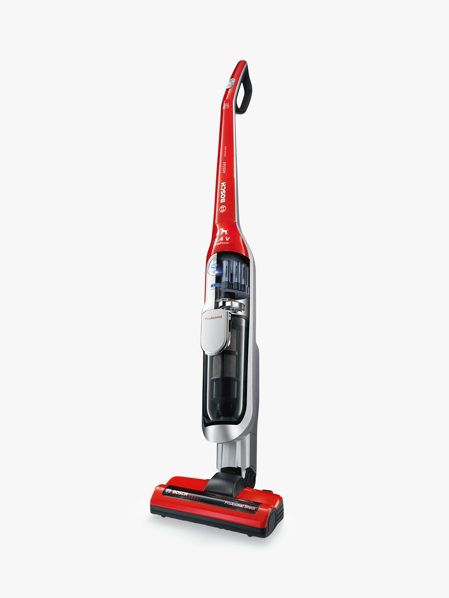 Bosch BCH7PETGB Ultimate Pet Cordless Vacuum Cleaner, Red