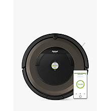 Buy iRobot Roomba 896 Robot Vacuum Cleaner, Black/Brown Online at johnlewis.com