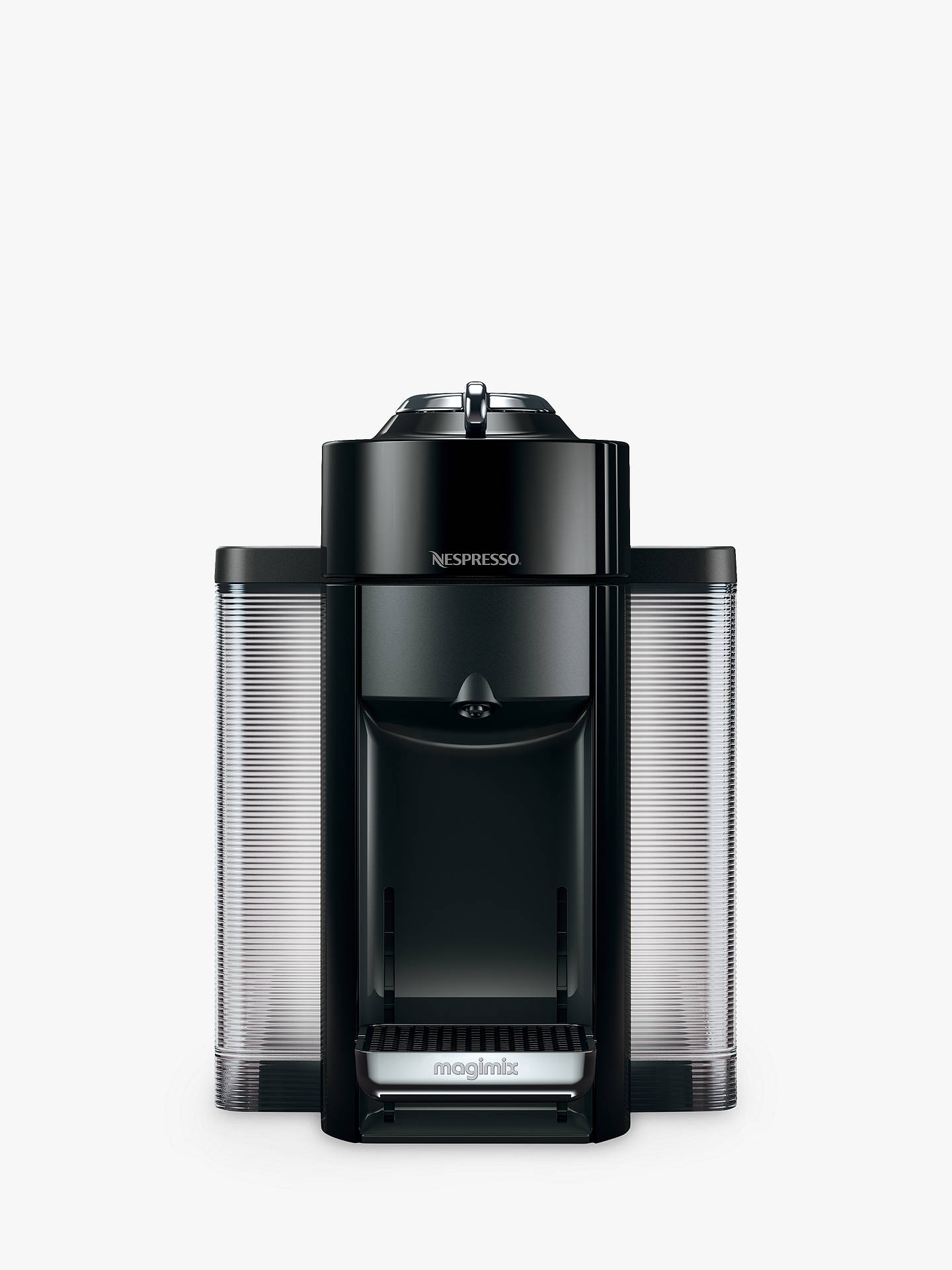 nespresso vertuo coffee machine by magimix piano black at john lewis partners. Black Bedroom Furniture Sets. Home Design Ideas