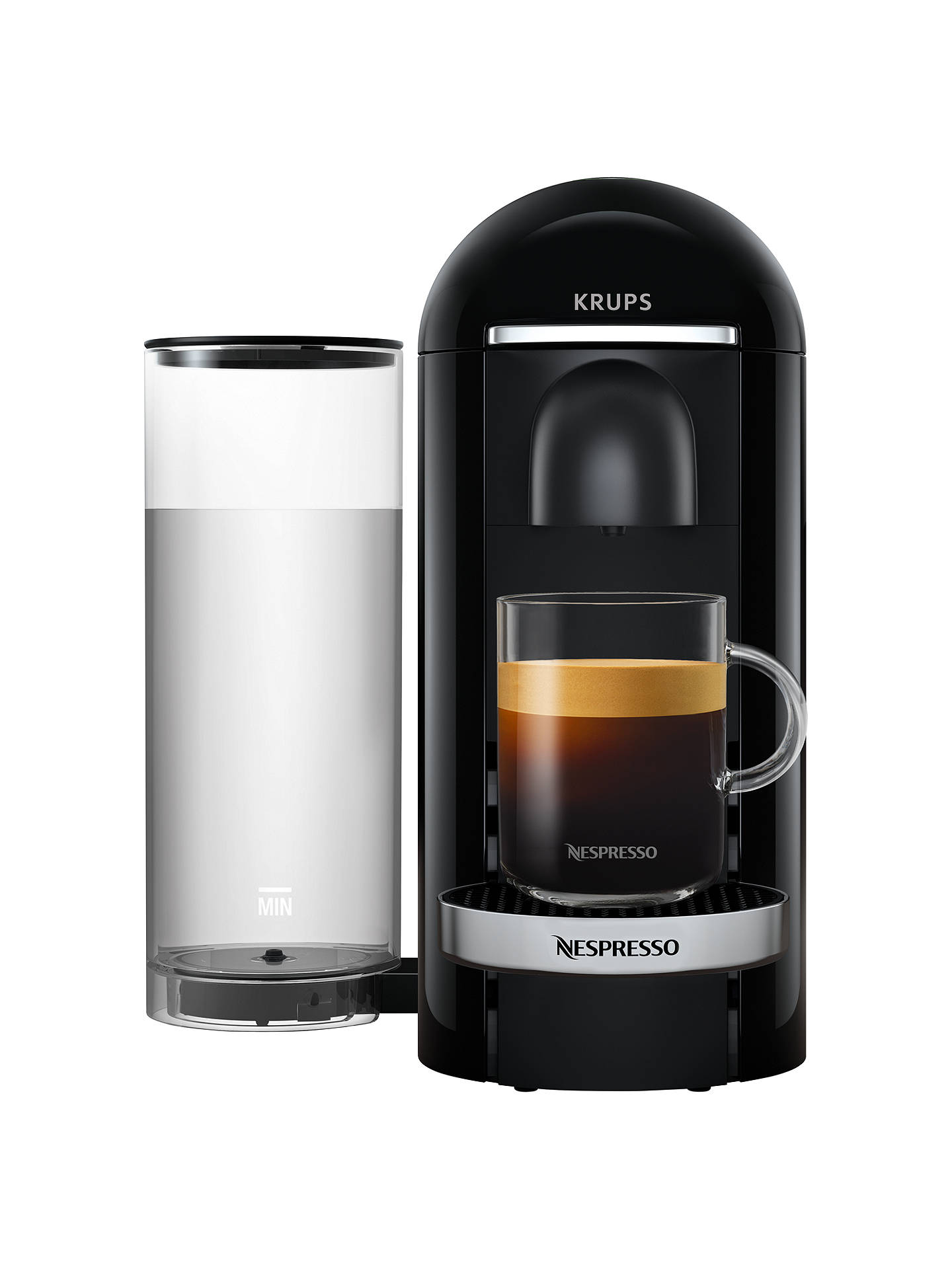 Nespresso Vertuo Plus Coffee Machine By Krups Piano Black