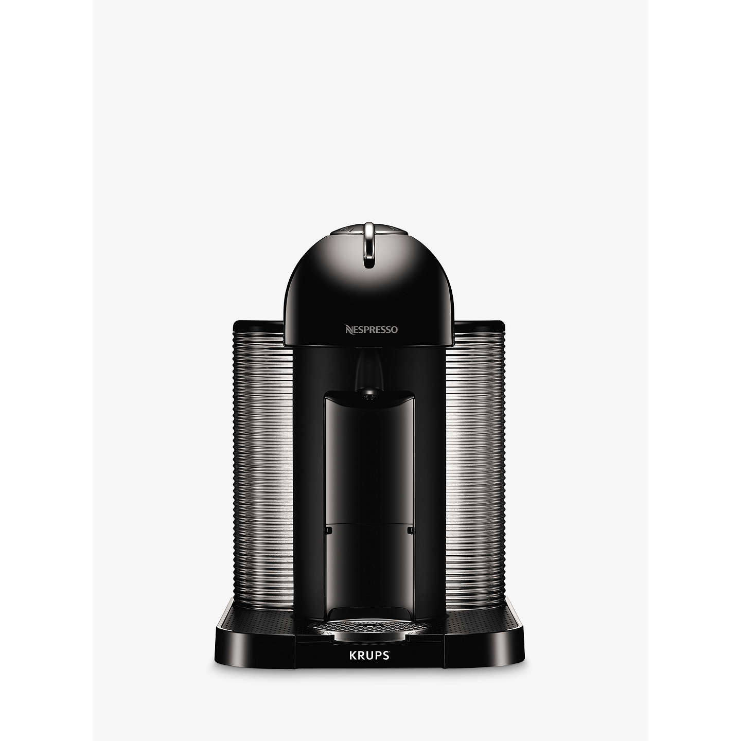 nespresso vertuo coffee machine by krups piano black at john lewis. Black Bedroom Furniture Sets. Home Design Ideas