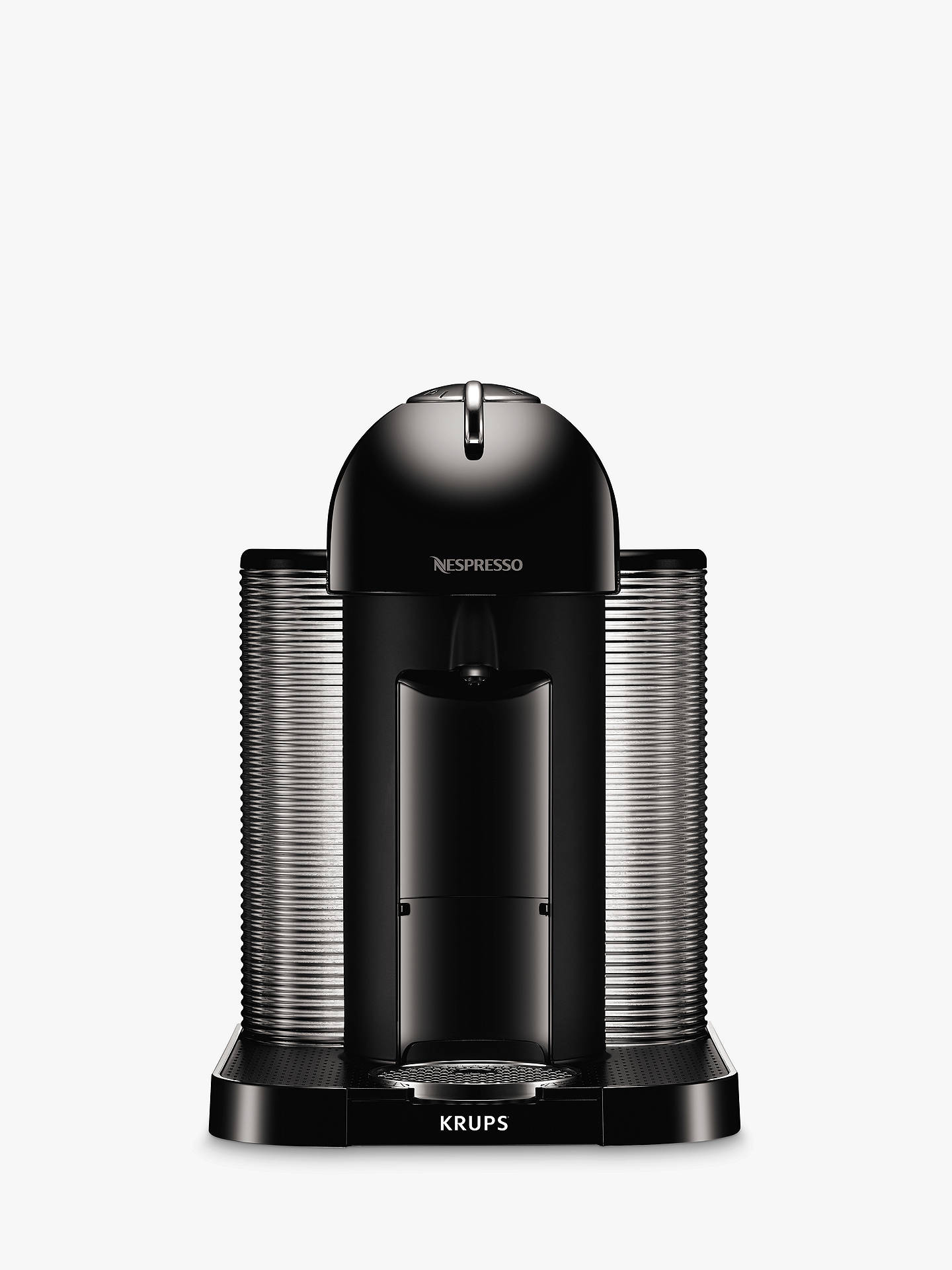 nespresso vertuo coffee machine by krups piano black at john lewis partners. Black Bedroom Furniture Sets. Home Design Ideas