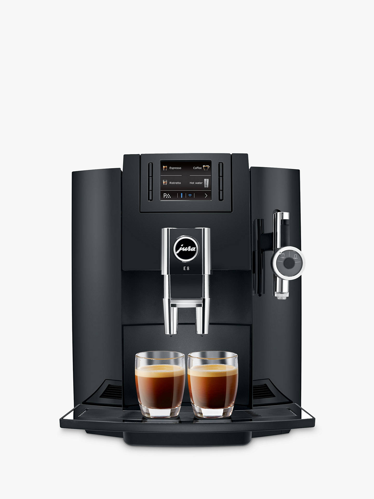 BuyJura E8 Bean-to-Cup Automatic Coffee Machine, Black Online at johnlewis.com
