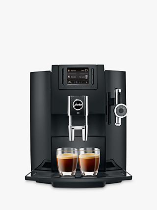 Jura E8 Bean-to-Cup Automatic Coffee Machine, Black
