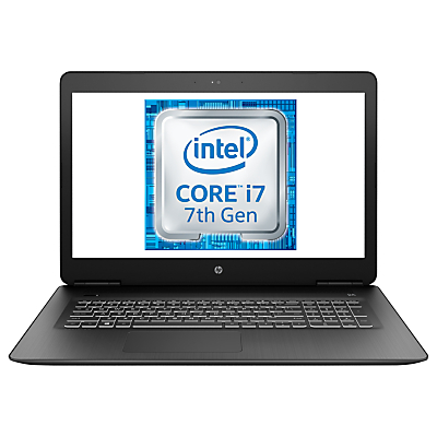"HP Pavilion 17-ab301na Gaming Laptop, Intel Core i7, 8GB RAM, 1TB, NVIDIA GeForce GTX 1050 2 GB dedicated, 17.3"", Full HD, Shadow Black"
