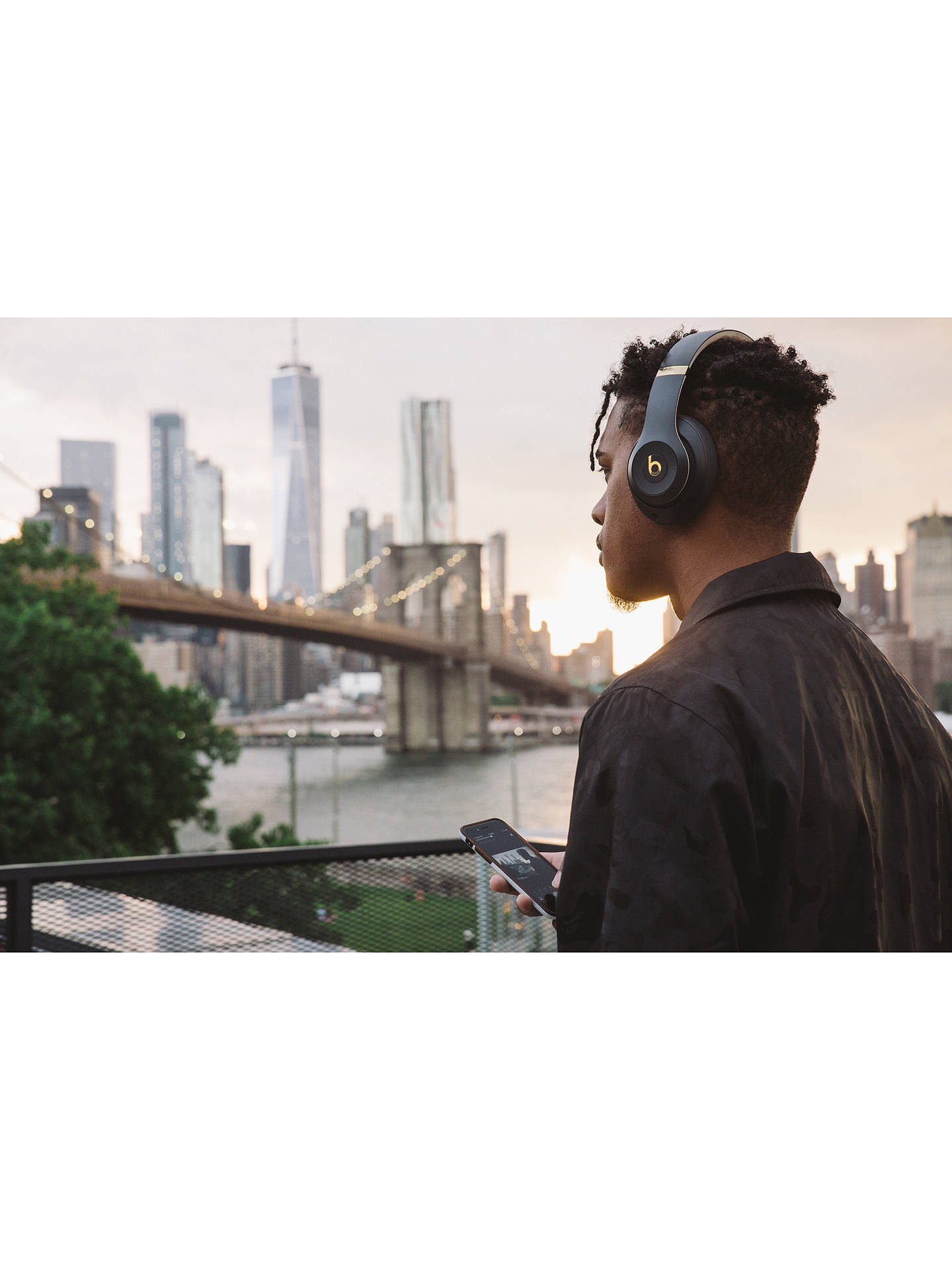 Buy Beats Studio³  Wireless Bluetooth Over-Ear Headphones with Pure Adaptive Noise Cancelling & Mic/Remote, Blue Online at johnlewis.com