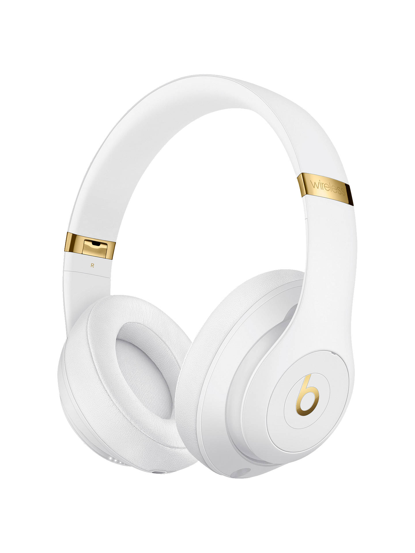 BuyBeats Studio³  Wireless Bluetooth Over-Ear Headphones with Pure Adaptive Noise Cancelling & Mic/Remote, White Online at johnlewis.com