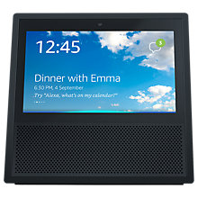 "Buy 2x Amazon Echo Show Smart Speaker with 7"" Screen & Alexa Voice Recognition & Control, Black Online at johnlewis.com"