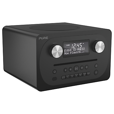 Image of Pure Evoke C-D4 DAB+/FM Bluetooth Compact All-In-One Music System With Remote Control, Walnut