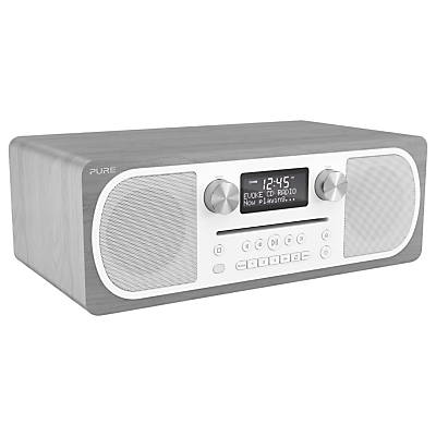 Image of Pure Evoke C-D6 DAB+/FM Bluetooth Stereo All-In-One Music System With Remote Control, Walnut