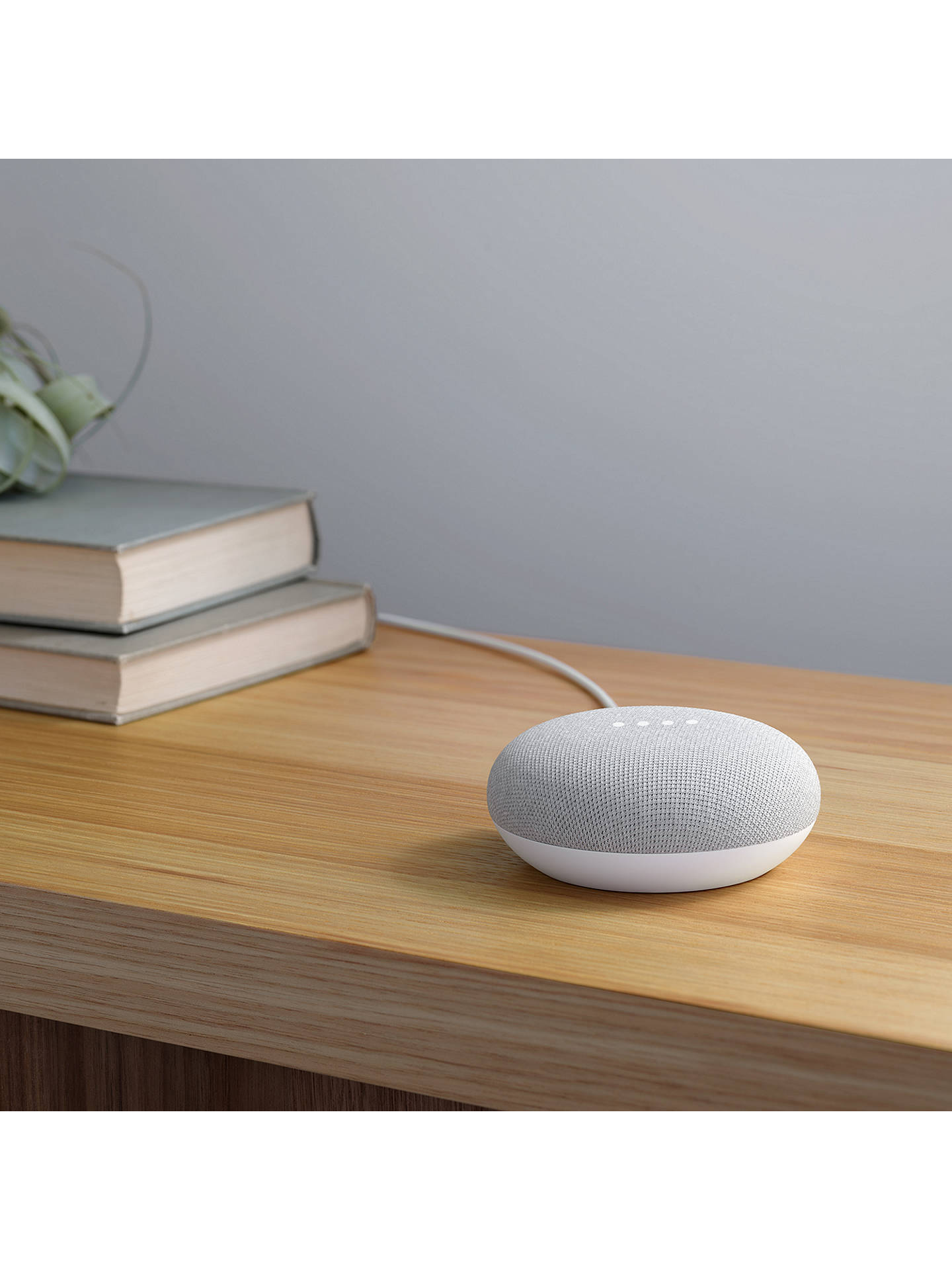 Google Home Mini Hands-Free Smart Speaker, Chalk