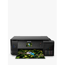 Buy Epson Ecotank ET-7700 Three-In-One Wi-Fi Printer with High Capacity Integrated Ink Tank System & 2 Years Ink Supply Included Online at johnlewis.com