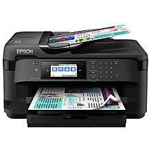 Buy Epson WorkForce WF-7710 All-In-One A3 Wireless Printer, Black Online at johnlewis.com