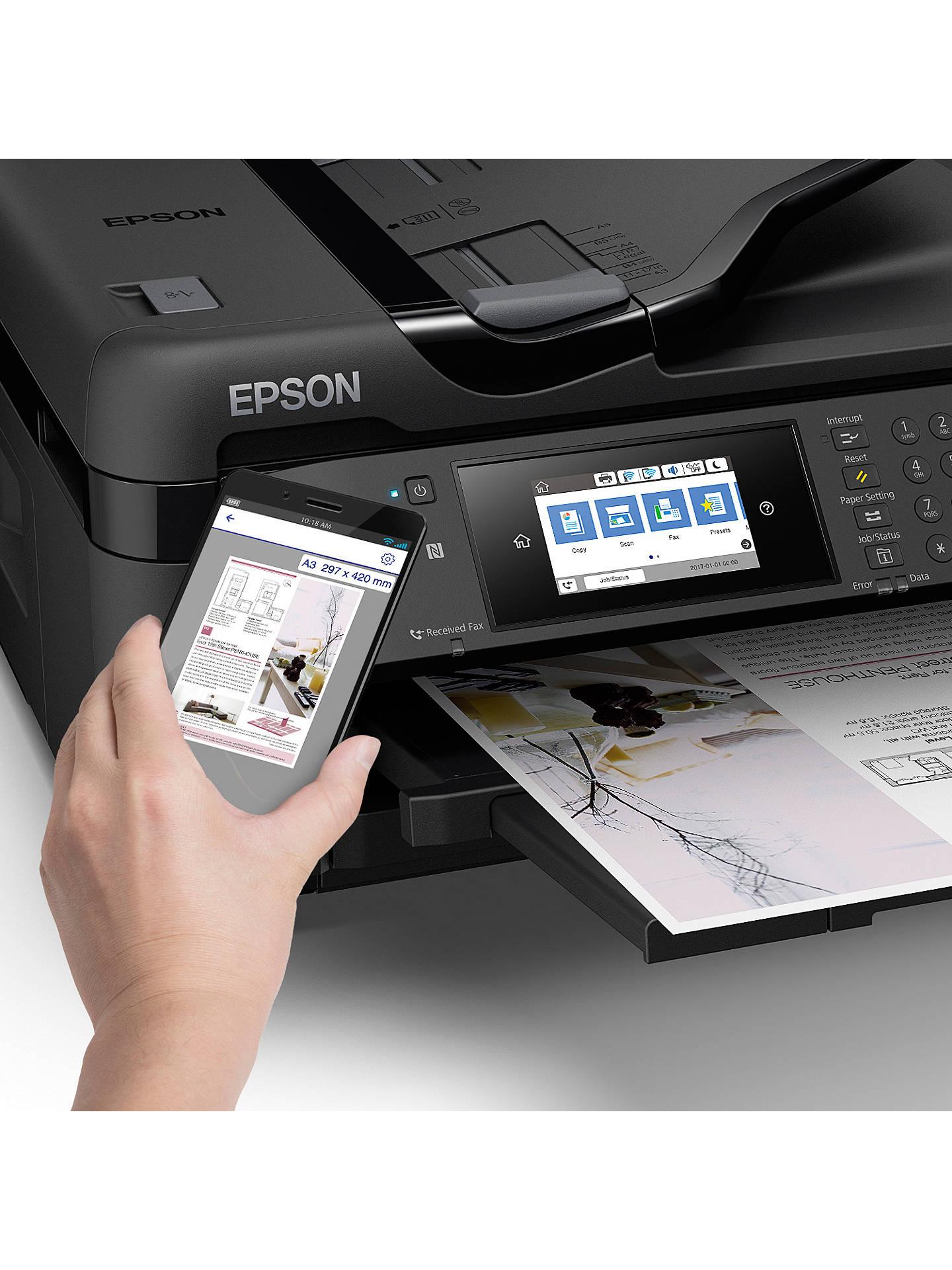Epson Workforce Wf 7710 All In One A3 Wireless Printer Black At Install Diagram Buyepson Online