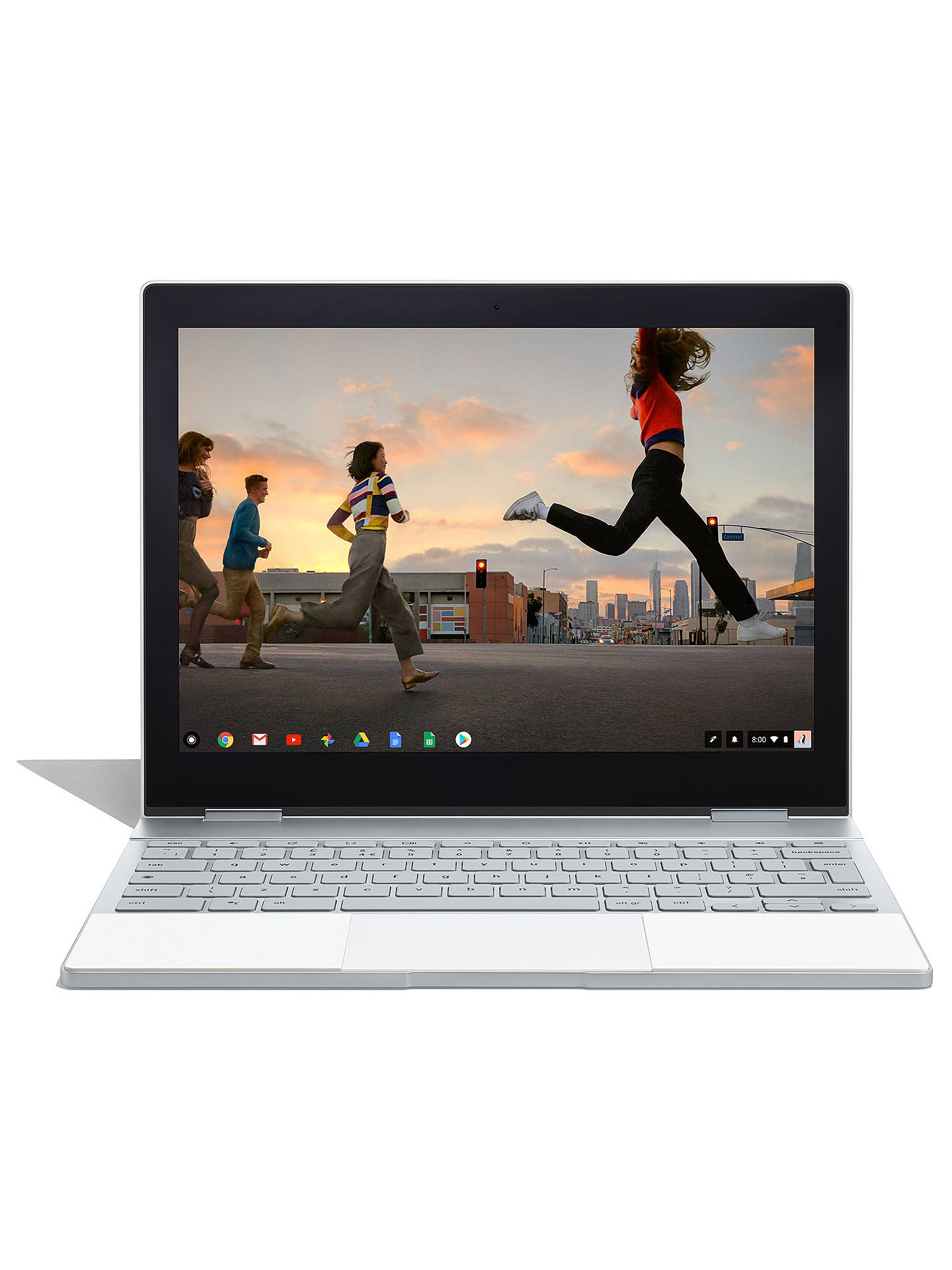 "BuyGoogle Pixelbook, Intel Core i5, 8GB RAM, 128GB SSD, 12.3"" Quad HD Touchscreen, Rock Candy Online at johnlewis.com"