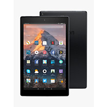 "Buy New Amazon Fire HD 10 Tablet with Alexa Hands-Free, Quad-core, Fire OS, 10.1"" Full HD, Wi-Fi, 64GB, with Special Offers Online at johnlewis.com"