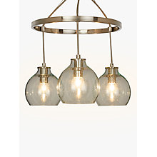 Buy John Lewis Croft Collection Selsey Semi Flush, 3 Pendant Ceiling Light, Blue/Chrome Online at johnlewis.com