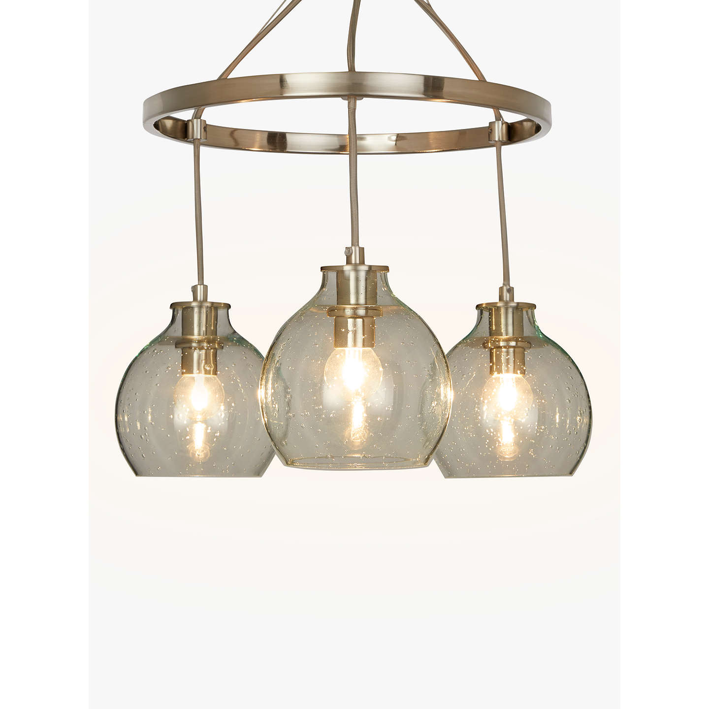 Croft collection selsey semi flush 3 pendant ceiling light blue buycroft collection selsey semi flush 3 pendant ceiling light bluechrome online at mozeypictures Image collections