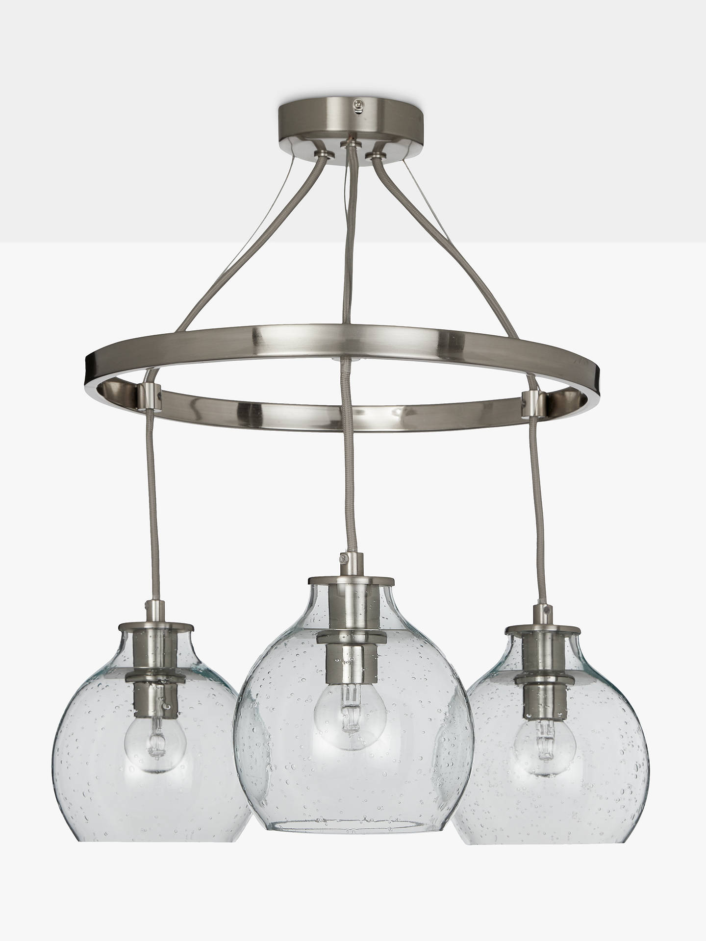 Croft Collection Selsey Semi Flush 3 Pendant Ceiling Light Blue Antler Lamp Wiring Kit Buycroft Chrome Online At