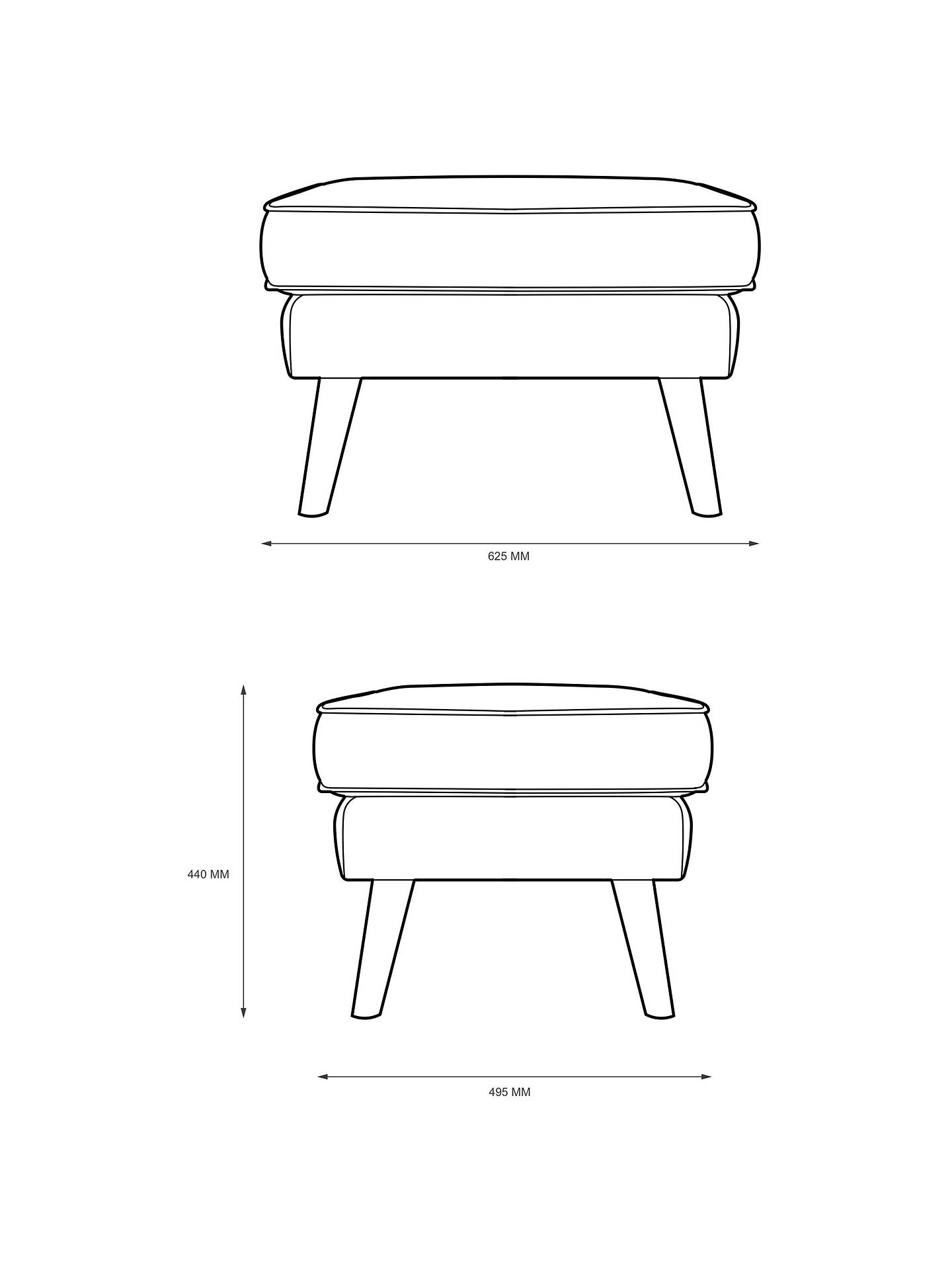 Buy G Plan Vintage The Sixty Five Footstool, Etch Ink Online at johnlewis.com