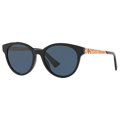 Christian Dior Diorama Oval Sunglasses, Black/Blue