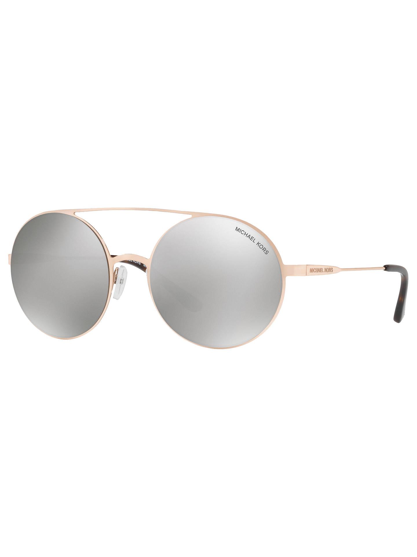 6558651eb80e Buy Michael Kors MK1027 Round Sunglasses, Rose Gold/Mirror Silver Online at  johnlewis.