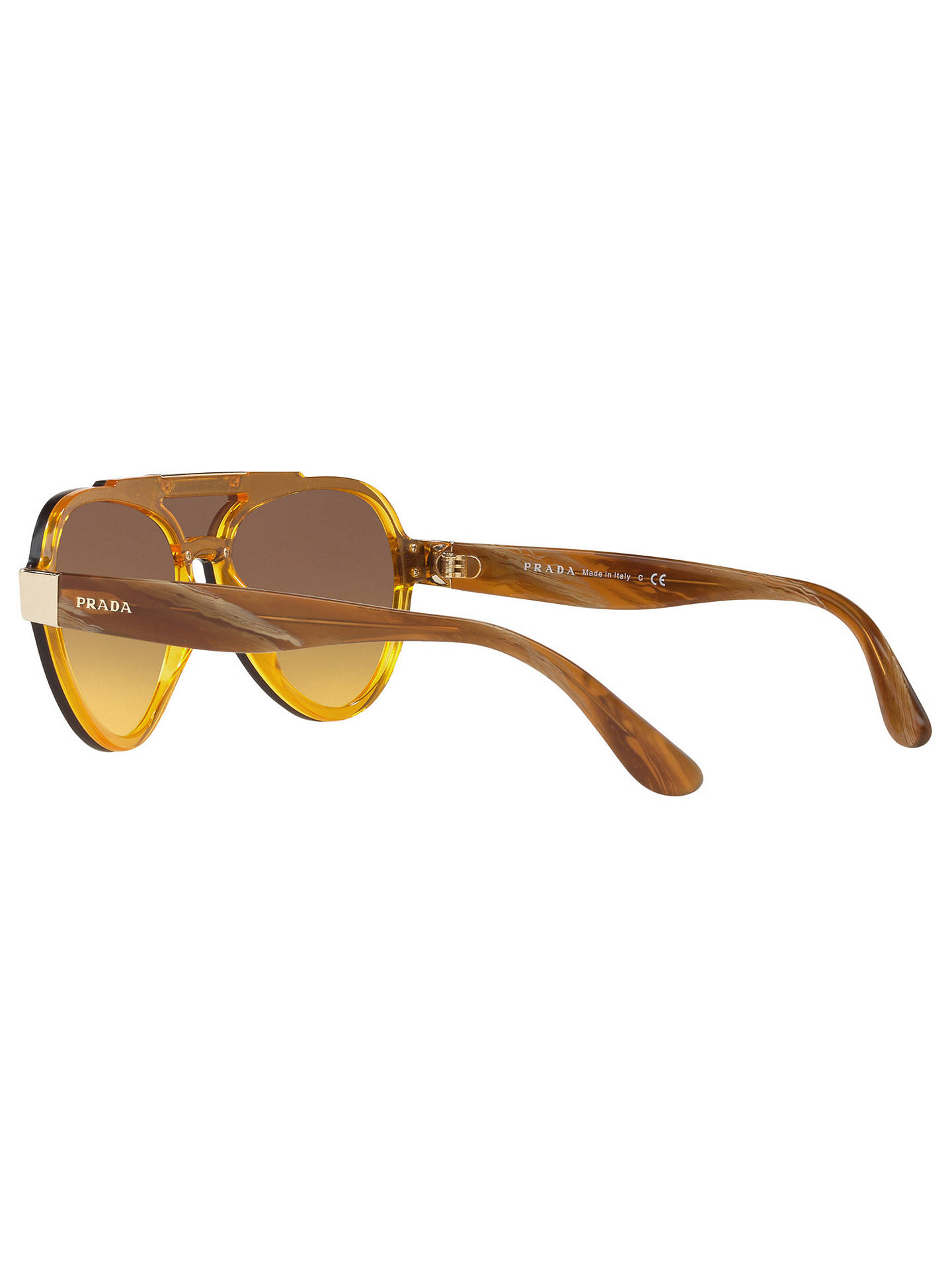 5509014bd8b8 ... coupon code for buyprada pr 01us aviator sunglasses yellow yellow brown  gradient online at johnlewis db1f0
