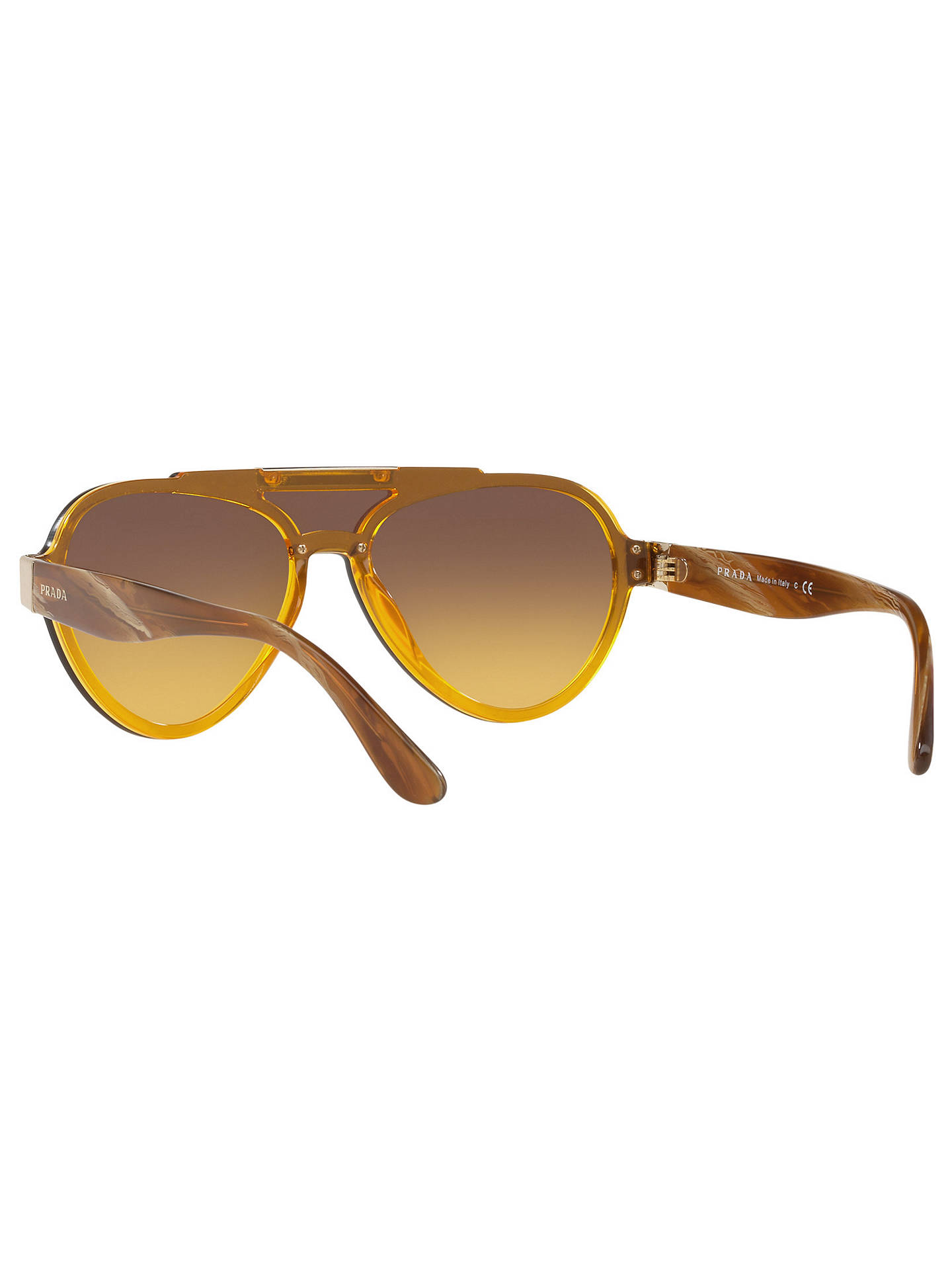 0a945762cb18 ... coupon code for buyprada pr 01us aviator sunglasses yellow yellow brown  gradient online at johnlewis 60fe1
