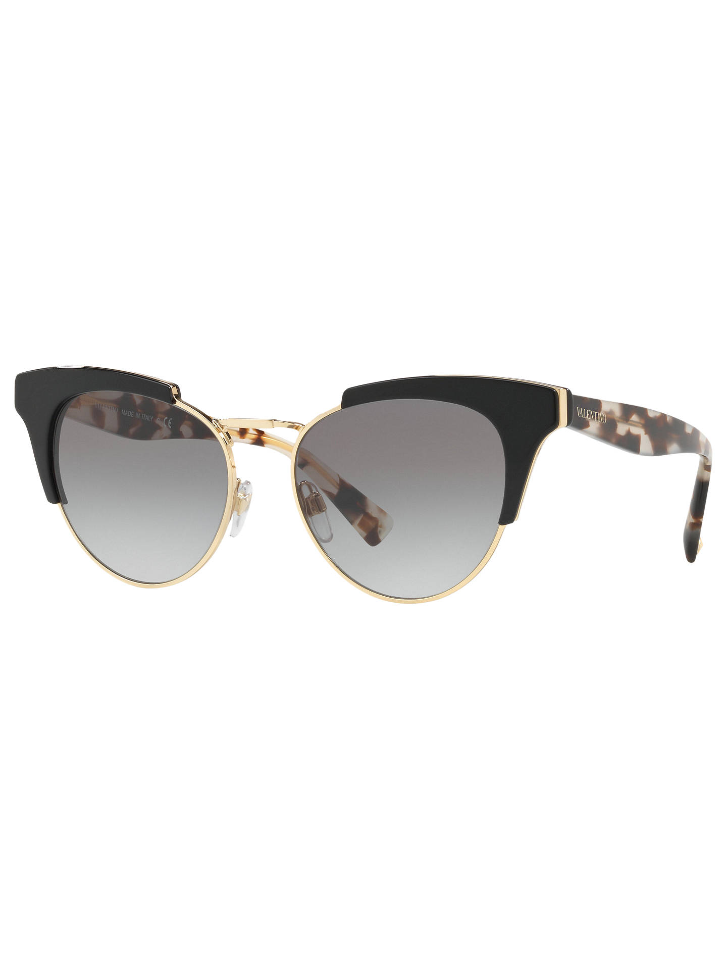 9b631fd256db0 Buy Valentino VA4026 Cat's Eye Sunglasses, Black/Grey Gradient Online at  johnlewis. ...