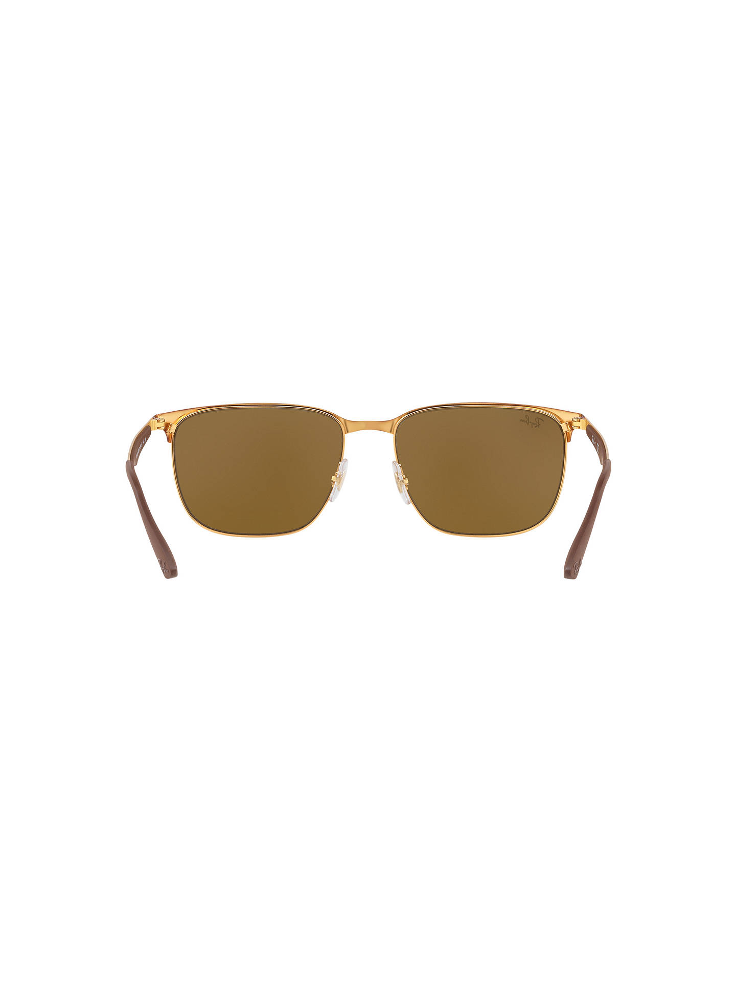 BuyRay-Ban RB3569 Square Sunglasses, Tortoise/Brown Online at johnlewis.com